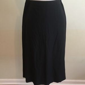 CALVIN KLEIN COLLECTION navy a-line wool skirt